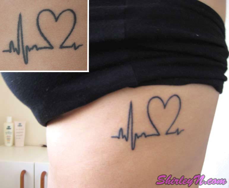 pin heart ekg tattoo on pinterest. Black Bedroom Furniture Sets. Home Design Ideas