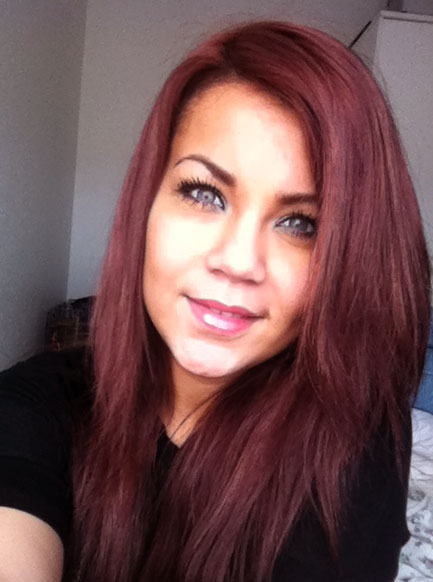 kobber rød hårfarve