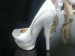white pumps, diamonds