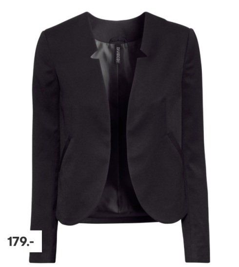 Blazer, kort, h&m, sort, black