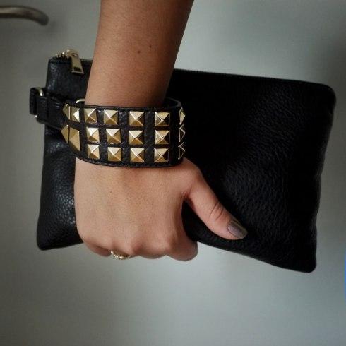 Clutch,-purse,-SIX,-taske,-nitter,-studded,-guld,-gold