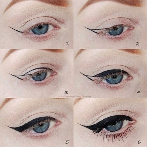 Eyeliner, dita von teese, how to