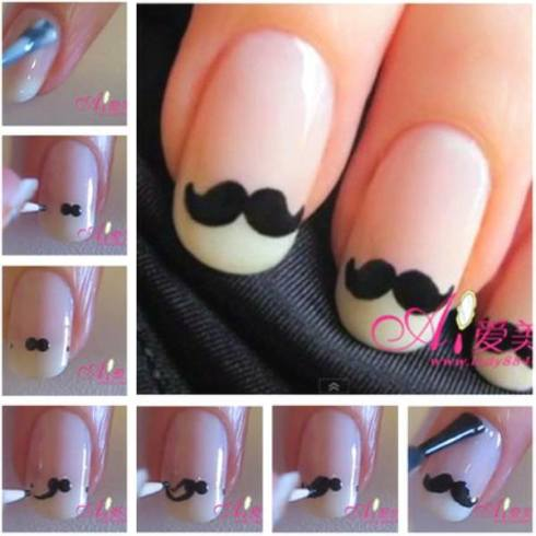 Movember, moustache, nail polish, nail art