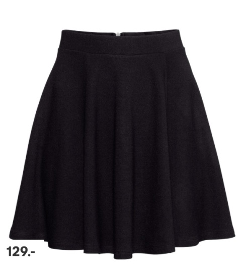 Skater nederdel, skirt, h&m