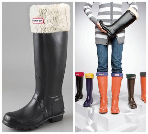 Hunter rain boots, gummistøvler, socks, sokker