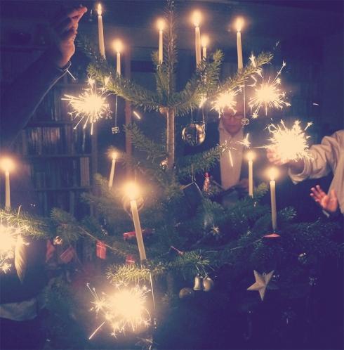 Juletræ-close-up, jul, julelys