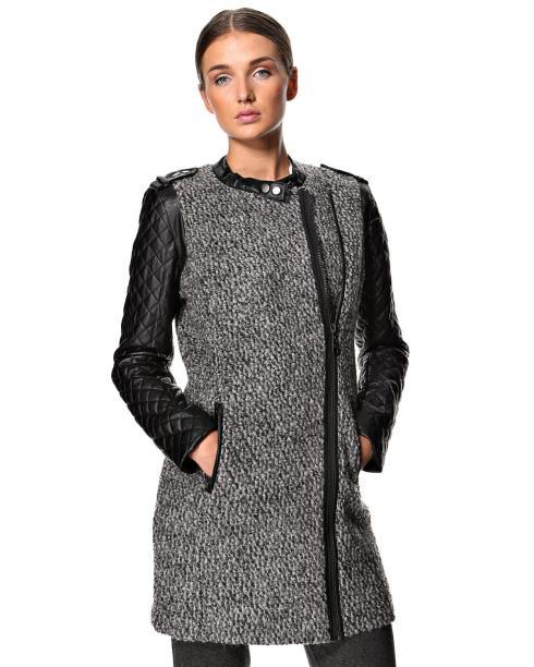 Minus bouclé uldjakke, vinterjakke, winterjacket quilte, wool, jacket