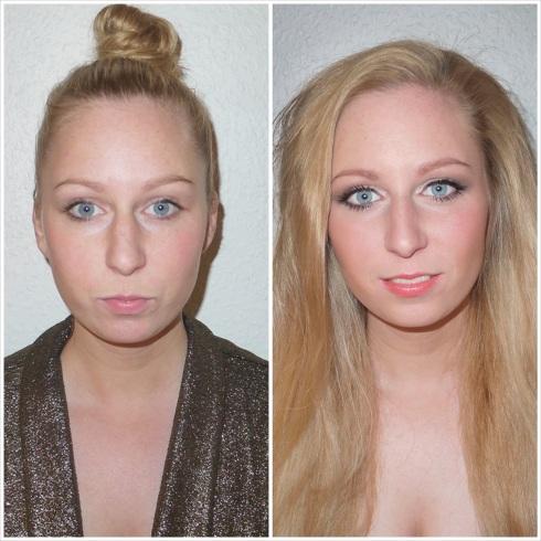 Make over, before and after, før og efter, make-up, forandring, tranformation