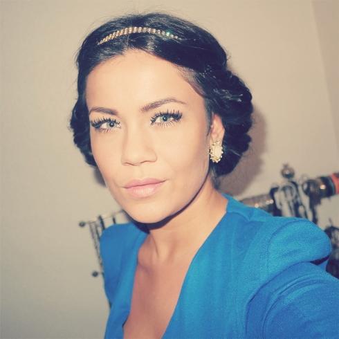 Nytår, hår,  fest make up, inspiration, SIX hovedsmykke, hårbånd, diamanter