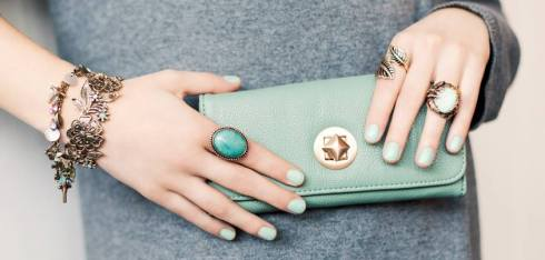 SIX accessories, jellewry, jewelry, pastel, mint green, grøn, purse, pung, rings, ringe, spring, forår