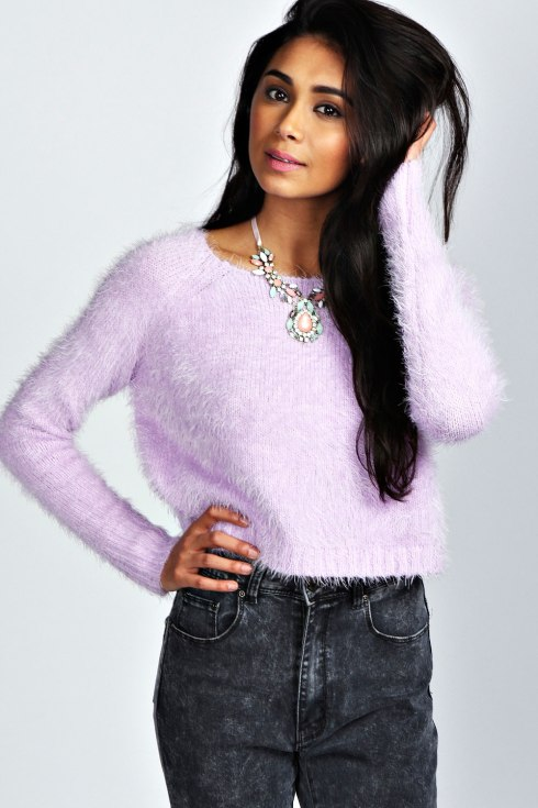 Vera Crop Fluffy Knit Jumper