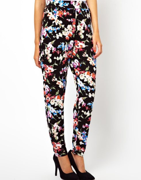 ASOS Peg Trousers in Floral Print