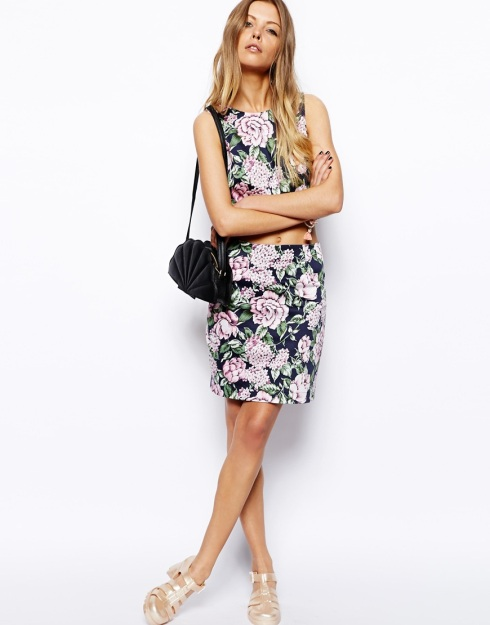 ASOS Reclaimed Vintage Skirt In Floral Printl