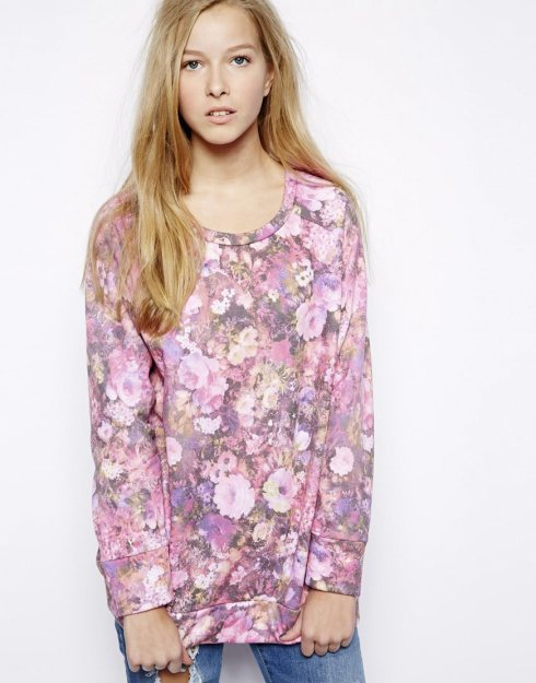 Edit Floral Print Sweatshirt