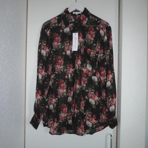 Glamorous Oversize Shirt in Oversize Floral, flower, blomster skjorte, roser