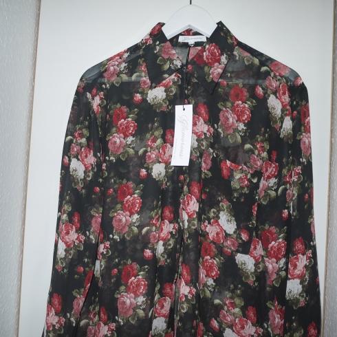 Glamorous Oversize Shirt in Oversize Floral, rose, flowers, skjorte, mode, blomster