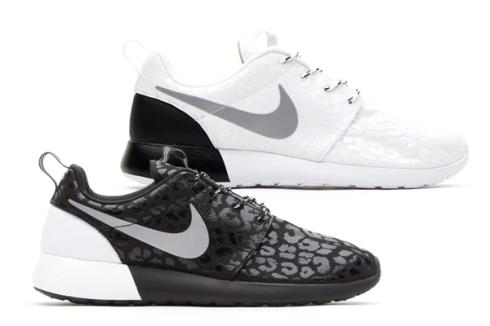 nike-wmns-roshe-run-leopard-pack, black, white