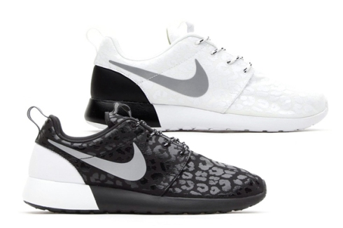 nike-wmns-roshe-run-leopard-pack, black, white