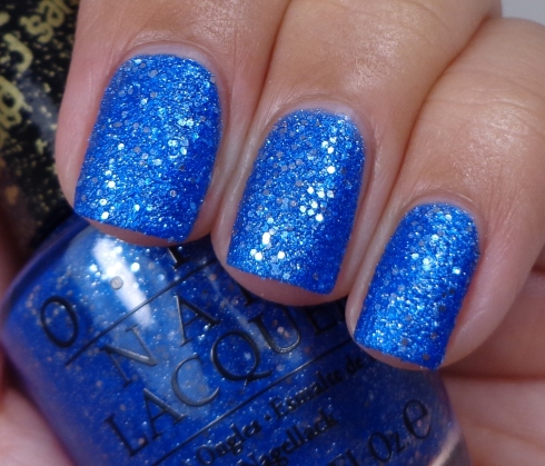 OPI-Kiss-Me-At-Midnight, liquid sand, neglelak, nailpolish, blue, metallic